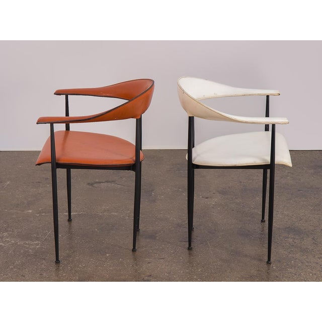 P40 Armchairs by Giancarlo Vegni and Gianfranco Gualtierotti - a Pair For Sale In New York - Image 6 of 12
