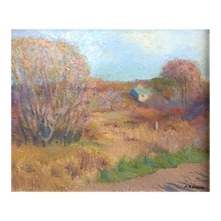 Mid 20th C. American Impressionist Landscape Oil Painting For Sale