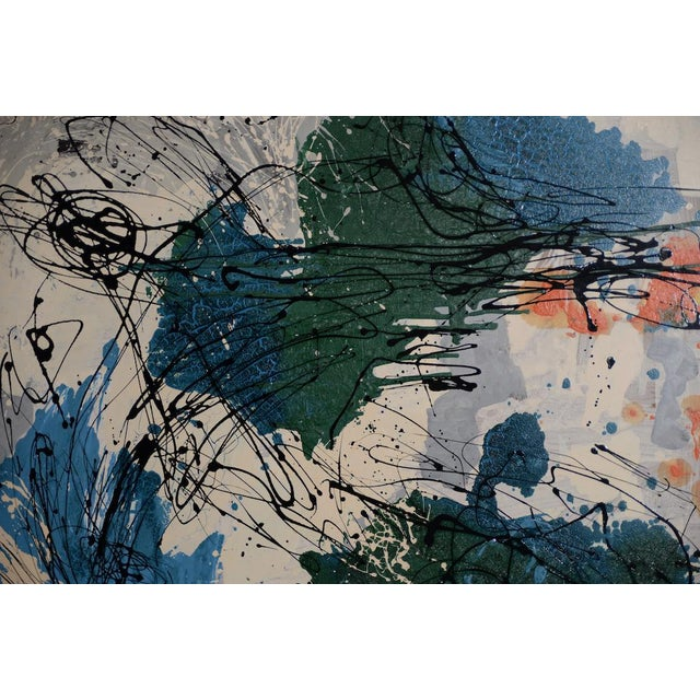 Abstract Expressionist Oil Painting by Van Winkle C.1950s For Sale - Image 10 of 12