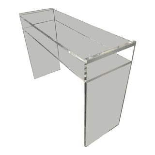 1960s Modern Lucite Console Table For Sale