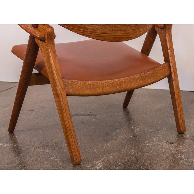 Brown Hans J. Wegner Ch-28 Armchair for Carl Hansen & Son For Sale - Image 8 of 12