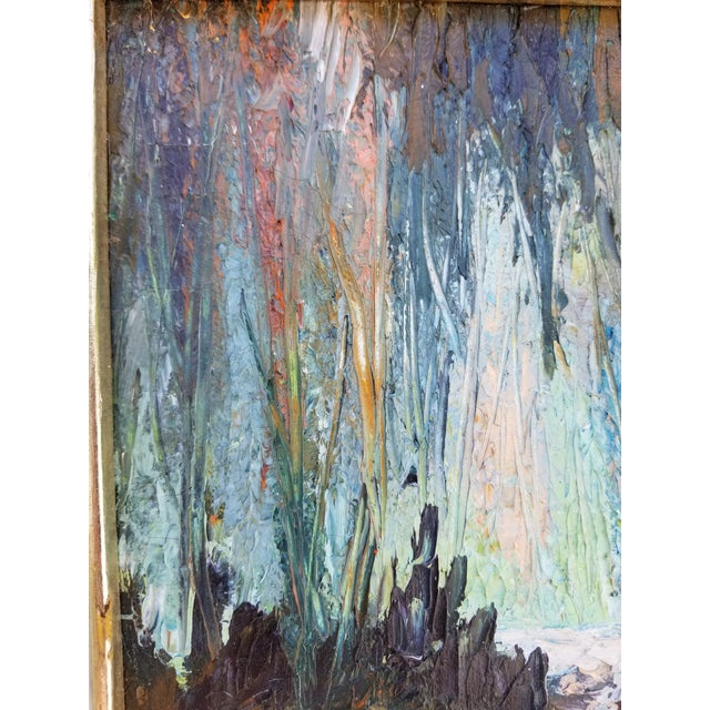 Vintage Impasto Landscape Abstract Painting by Yolanda P. For Sale - Image 4 of 12