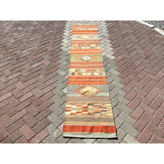 Vintage Turkish Kilim Runner Rug Preview