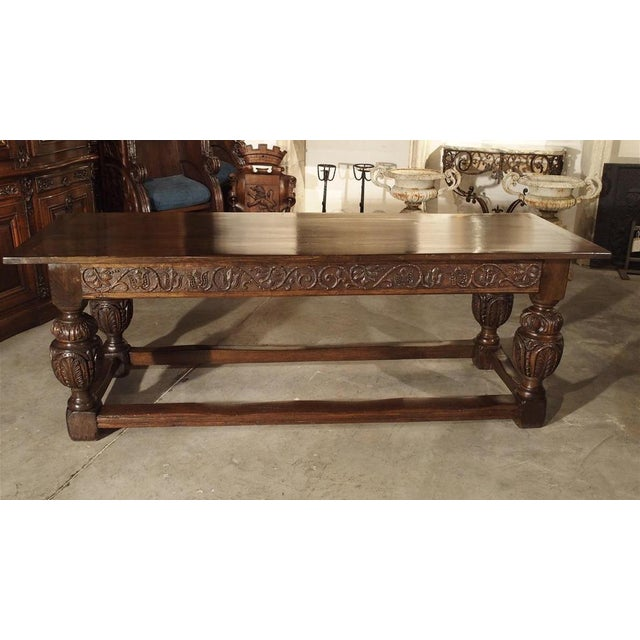 Antique Oak Elizabethan Style Table, England 19th Century For Sale - Image 11 of 13