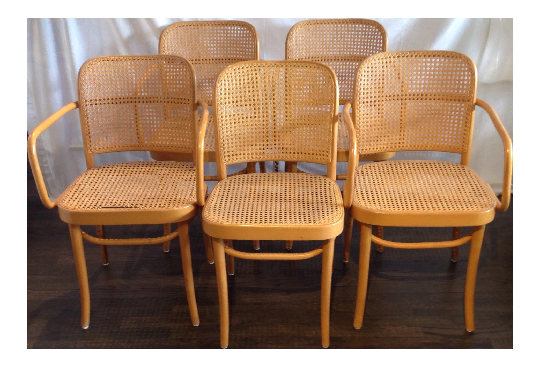 Beau Prague Bentwood Cane Chairs   Set Of 5