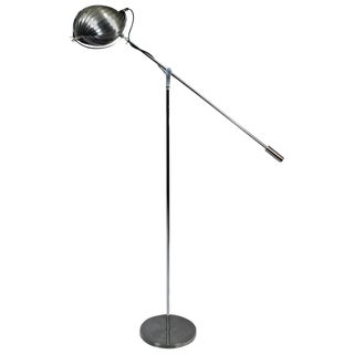 1960´s Standing Lamp in the Style of Henri Mathieu, brushed steel - France For Sale