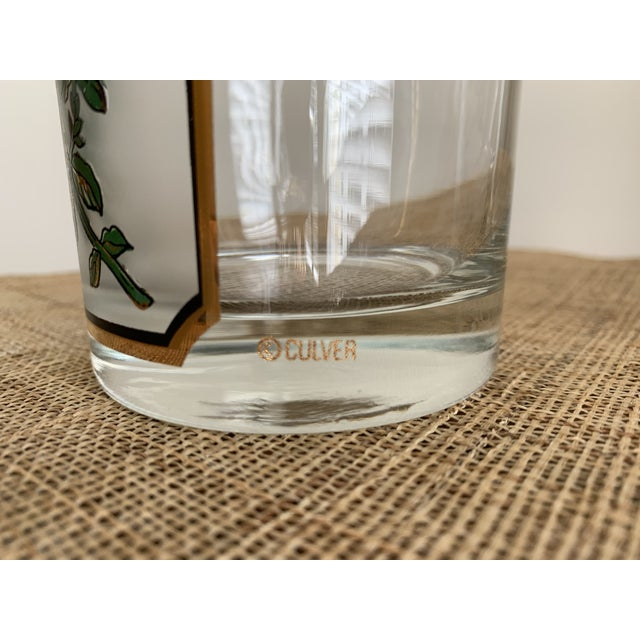 1950s 1950s Vintage Culver 'Thyme & Parsley' Old Fashion Glasses - a Pair For Sale - Image 5 of 12