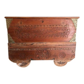1900s Asian Antique Teakwood Balinese Chest For Sale