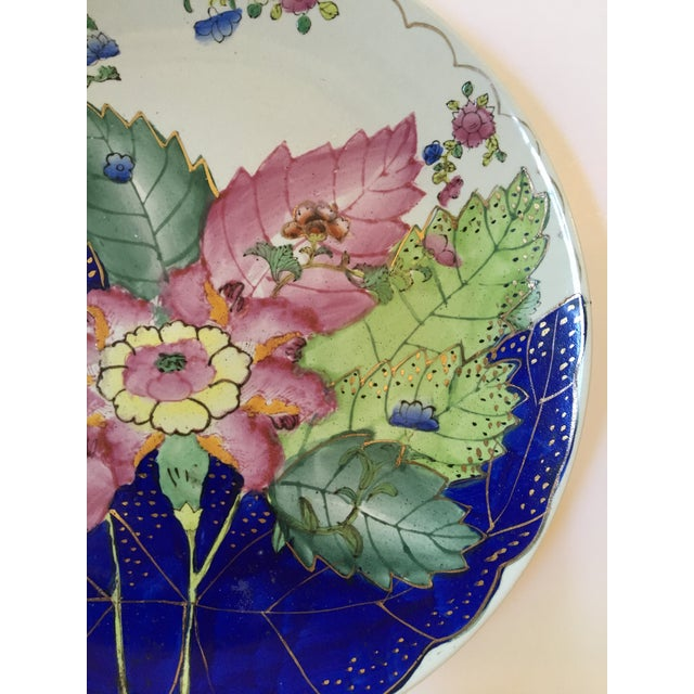 Vintage Hand Painted Tobacco Leaf Decorative Plate For Sale - Image 6 of 13