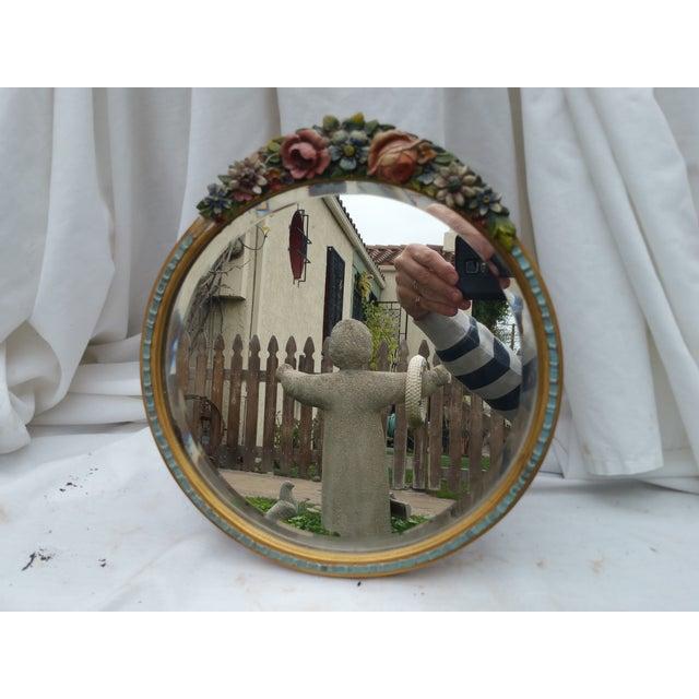 Rose Garland Barbola Mirror - Image 2 of 7