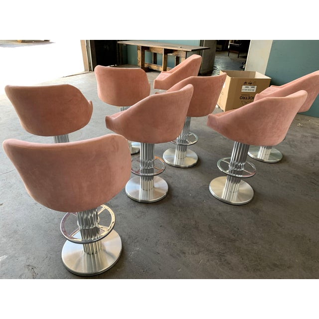 Art Deco Design for Leisure Bar Stools - Set of 8 For Sale - Image 3 of 11