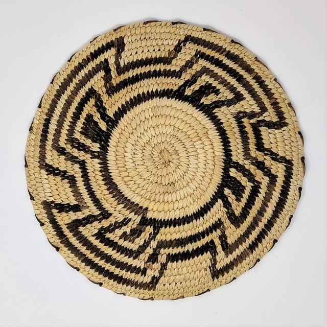 20th Century Native American Tohono O'odham Woven Basket For Sale In Sacramento - Image 6 of 9