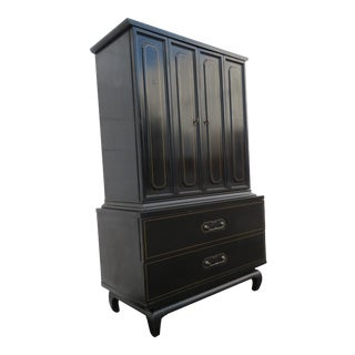 Hollywood Regency Chest of Drawers Wardrobe by American of Martinsville 2434 For Sale