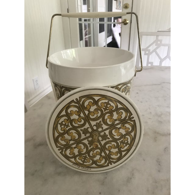 1980s Mid-Century Modern George Briard Fleur De Lis Ice Bucket For Sale - Image 9 of 10