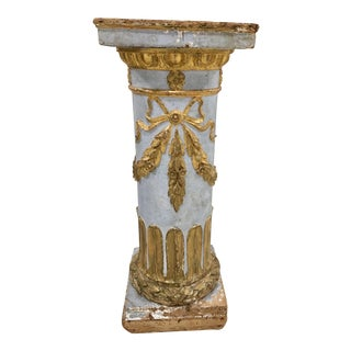 Italian Antique Painted Gilt Column