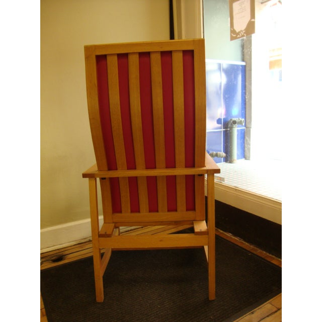 Mid-Century High Back Maple Armchair - Image 5 of 8