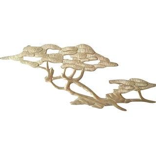 Mid-Century Brass Bonsai Wall Sculpture For Sale