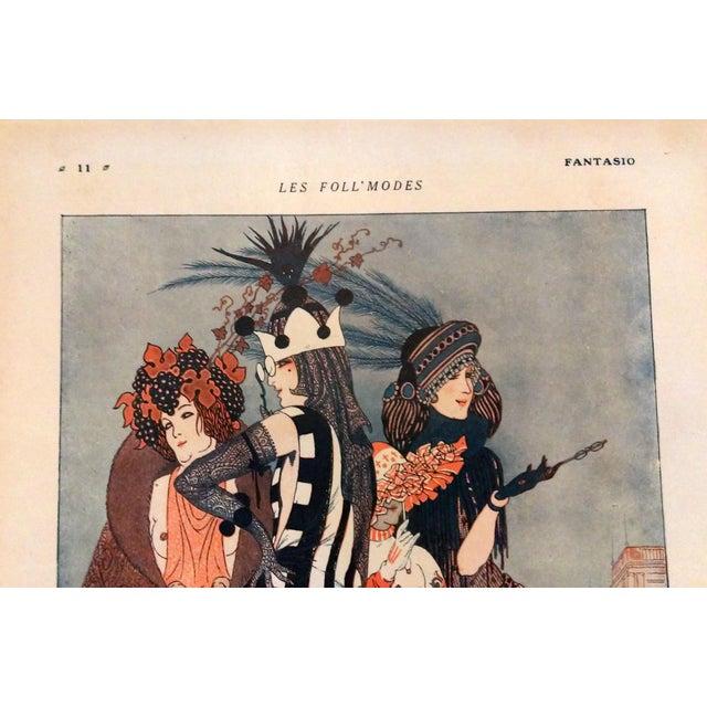 "Armand Valle 1919 Fantasio ""Les Foll' Modes"" Print - Image 2 of 5"