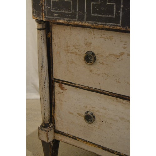 Antique Chest With New Paint (Black and White) From Spain For Sale - Image 10 of 13