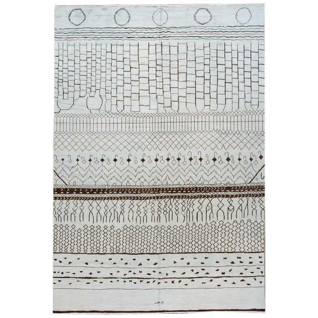 21st Century Contemporary 12'x19' Moroccan Wool Rug For Sale - Image 13 of 13