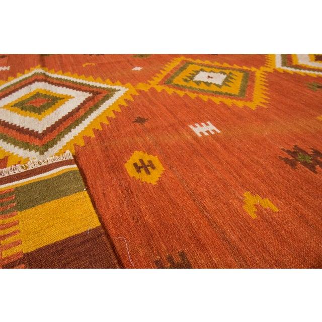 "Textile Apadana - Modern Kilim Rug, 8'7"" x 9'9"" For Sale - Image 7 of 7"