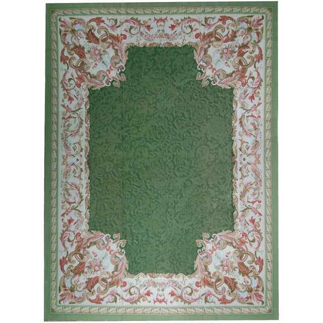 """Pasargad Aubusson Hand Woven Wool Rug - 10'10"""" X 16' 0"""" - Image 3 of 3"""