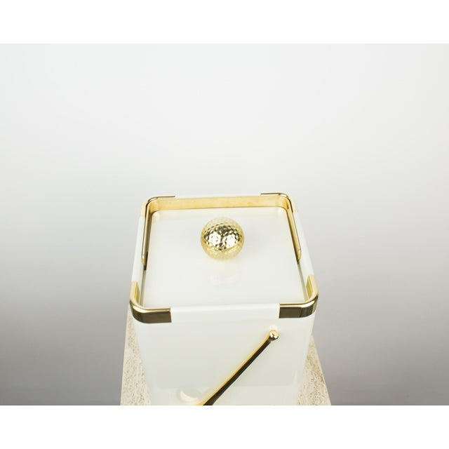 Vintage White and 24k Gold Turnwald Collection Golf Ice Bucket For Sale In New York - Image 6 of 11