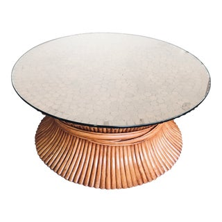 McGuire Sheaf of Wheat Bamboo Coffee Table For Sale