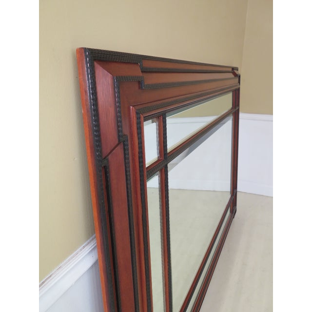 Traditional 1990s Vintage Beveled Glass Mahogany Mirror For Sale - Image 3 of 8