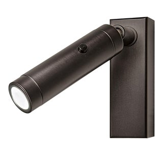 Black Bronze Led Focus Wall Reading Light With Rectangular Backplate For Sale
