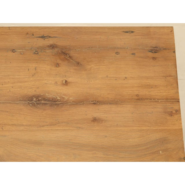 Industrial Inspired Kitchen Table From French White Oak and Steel For Sale - Image 4 of 10