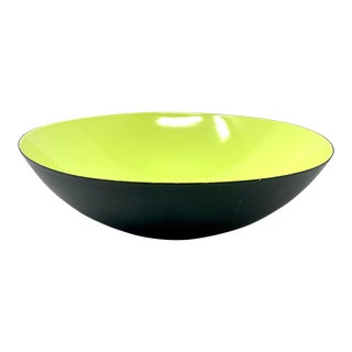 "Vintage 15"" Krenit Enameled Bowl by Herbert Krenchel For Sale"