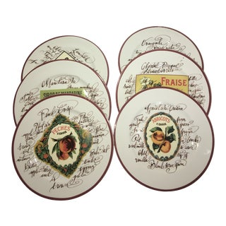 Rosanna by Williams Sonoma Luncheon/Dessert Plates - Set of Six For Sale