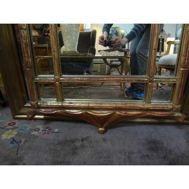 Italian Giltwood Chinese Chippendale Style or Chinoiserie Pagoda Mirror For Sale - Image 9 of 12