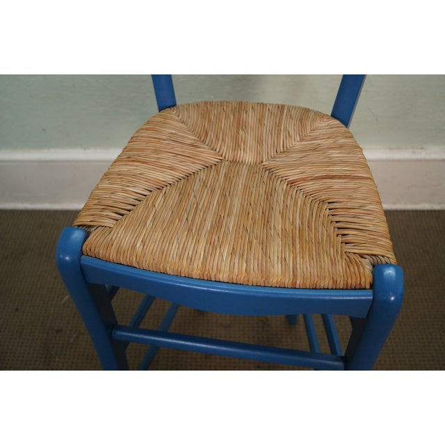 French Country Rush Seat Bar Stools - Set of 3 - Image 9 of 10
