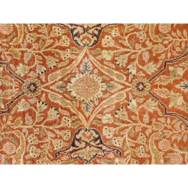 Cotton Handmade Indian Rug - 8' x 10' For Sale - Image 7 of 10