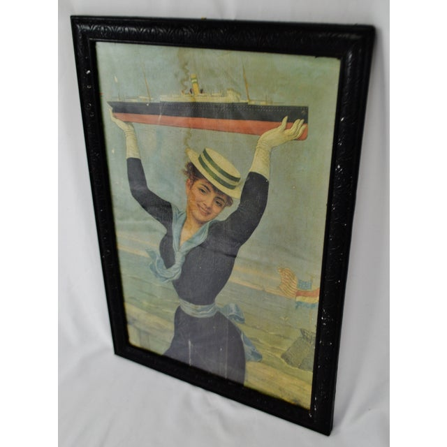 Victorian Jan Van Beers Framed Print Condition consistent with age and history. Some foxing, discolorations and creases....