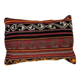 Vintage Handwoven Kilim Pillow For Sale