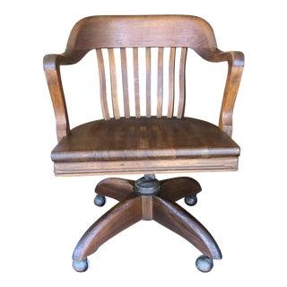 Vintage Rucker Fuller Woods Captains Chair For Sale
