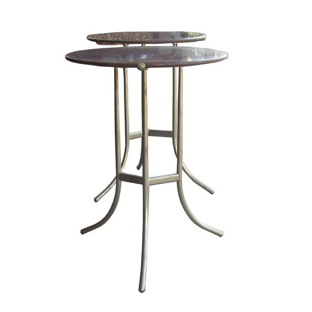 Mid-Century Modern Cedric Hartman Pair of Granite Side Tables For Sale - Image 3 of 11