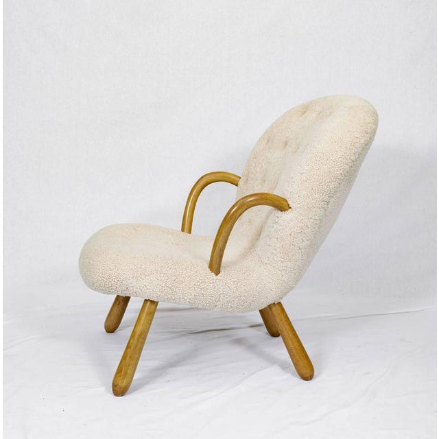 "Pair of Philip Arctander ""Clam"" Chairs For Sale In Los Angeles - Image 6 of 10"
