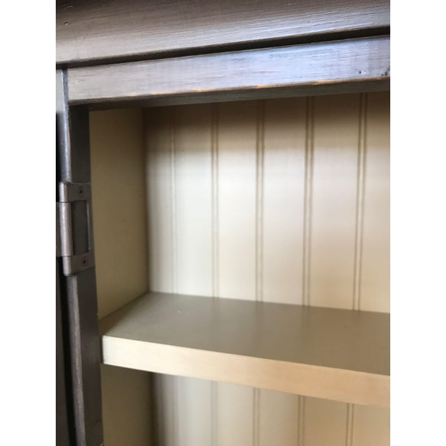 2000 - 2009 Taupe Wall Display Cabinet For Sale - Image 5 of 10