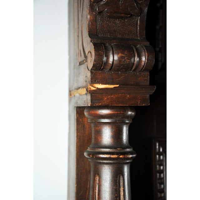 Wood Old English Pub Built-In Hall Tree Bar Back For Sale - Image 7 of 11