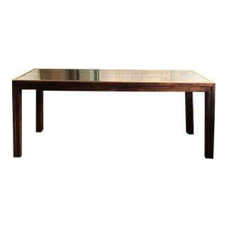Henredon Scene One Campaign Style Mirror Top Table