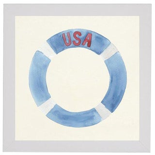 "Usa Life Preserver - 20"" X 20"" For Sale"