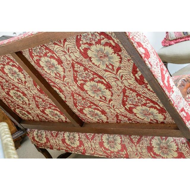 Large Upholstered Oak Settee For Sale - Image 4 of 8
