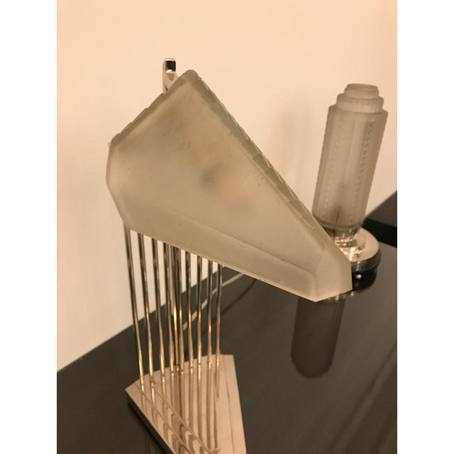 Gênet et Michon French Art Deco Desk Lamp Signed by Gênet Et Michon For Sale - Image 4 of 13