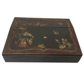 Mid Century Chinese Keepsake Box Chinoiserie Jewelry Box Trinket Box For Sale
