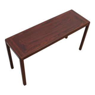 Danish Modern Rosewood Desk / Console / Sofa Table For Sale