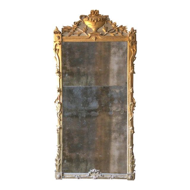 18th Century Louis XVI Mirror in Exceptional Size For Sale - Image 12 of 12